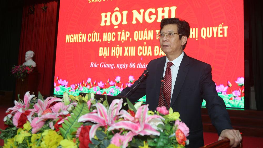 Bắc Giang, Đảng bộ Các cơ quan tỉnh, đảng viên, học tập nghị quyết