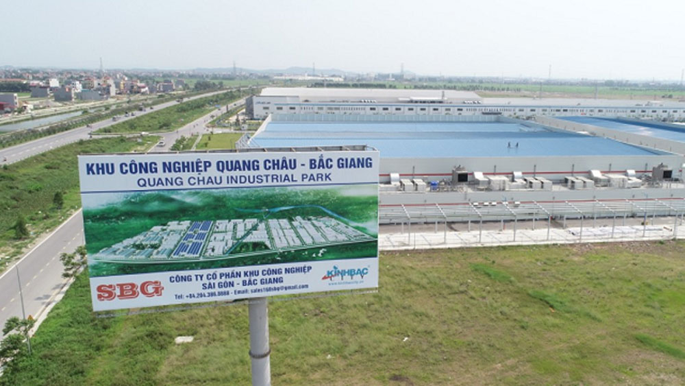 Bac Giang province, Quang Chau industrial park, site work, compensation value, Covid-19 pandemic, investment wave