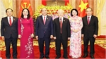 Duty handover ceremony held between former, new State Presidents