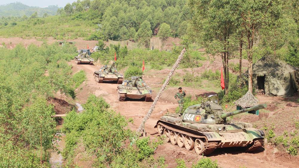 Lữ đoàn Xe tăng 203: Thi đua huấn luyện giỏi, rèn nghiêm