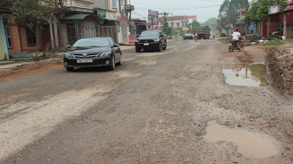 Bac Giang province, site clearance, provincial road upgrading project, build-transfer project, total length, road standard