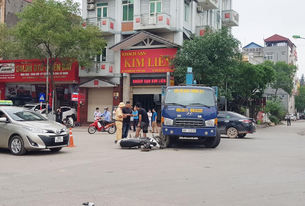 TP Bắc Giang,  tai nạn giao thông, cầu vượt Xương Giang