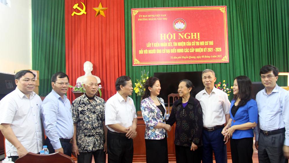 Phó Bí thư Thường trực Tỉnh ủy Lê Thị Thu Hồng được 100% cử tri nơi cư trú tín nhiệm giới thiệu ứng cử đại biểu HĐND tỉnh nhiệm kỳ 2021-2026