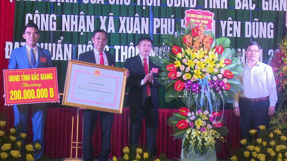 Xã Xuân Phú đạt chuẩn nông thôn mới nâng cao
