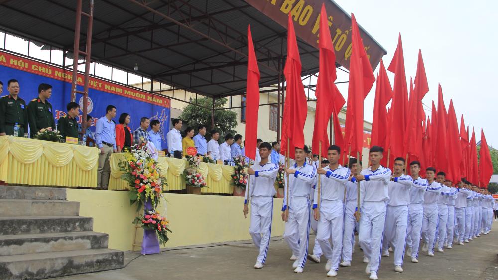 Xã Quang Thịnh tổ chức khai mạc đại hội thể dục thể thao điểm cấp cơ sở