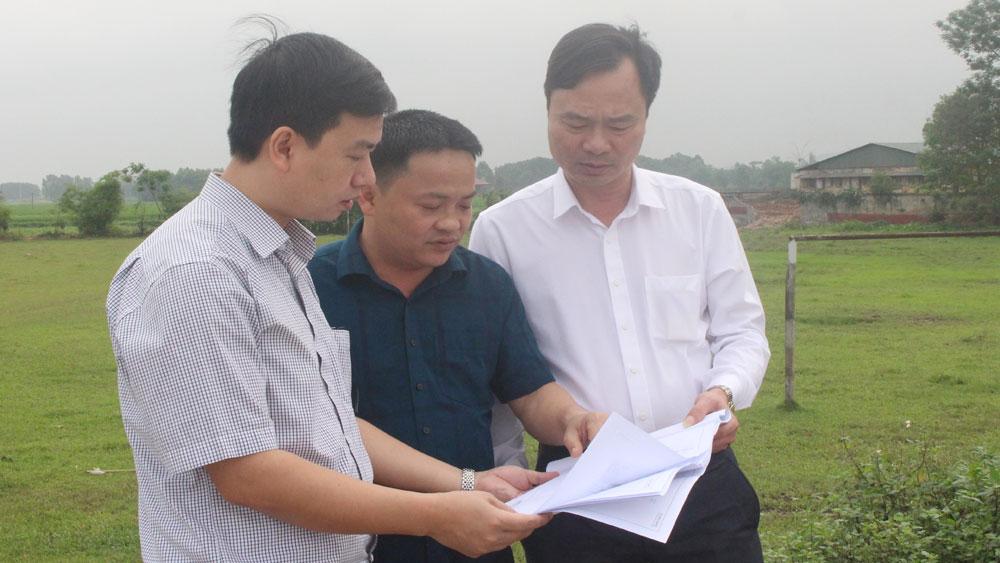 Bắc Giang: Bàn giao mốc giải phóng mặt bằng dự án đường nối quốc lộ 37 với đường tỉnh 292 tại Việt Yên