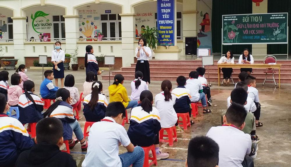 đối thoại, nhà trường, học sinh, TP Bắc Giang, Bắc Giang