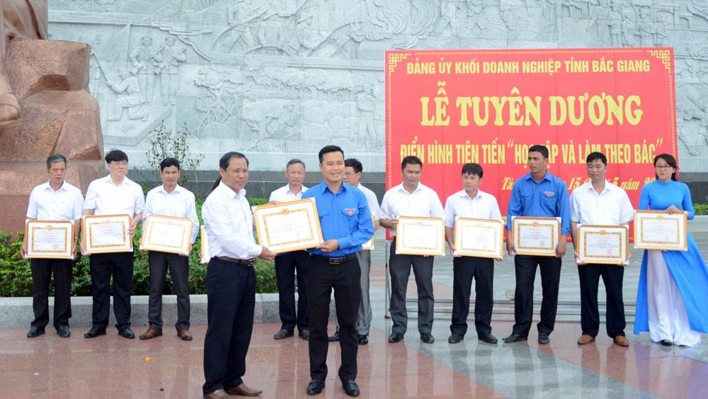 Bắc Giang, Đảng bộ Khối doanh nghiệp tỉnh Bắc Giang, Chỉ thị số 05 của Bộ Chính trị, Học tập và làm theo Bác