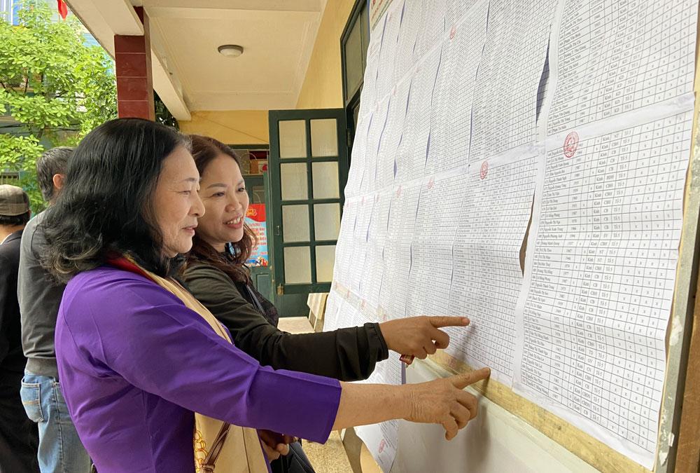 Bắc Giang: Niêm yết danh sách cử tri bảo đảm đúng thời gian, quy định