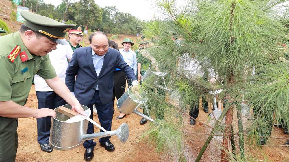 Chủ tịch nước Nguyễn Xuân Phúc, Lễ phát động trồng cây,Đời đời nhớ ơn Bác Hồ, Khu di tích lịch sử K9