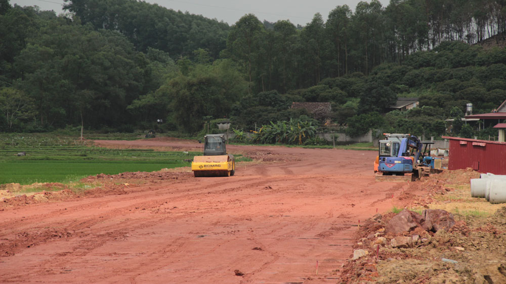 Bắc Giang: Phấn đấu hoàn thành đường nối từ quốc lộ 17 vào An Lạc Viên trước 2 tháng