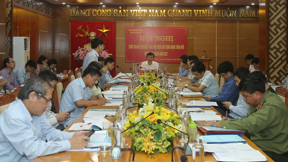Yên Dũng, huyện nông thôn mới, thẩm tra, hồ sơ