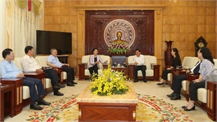 Former NA Chairwoman Nguyen Thi Kim Ngan, Chief Justice of the Supreme People's Court Nguyen Hoa Binh visit Bac Giang