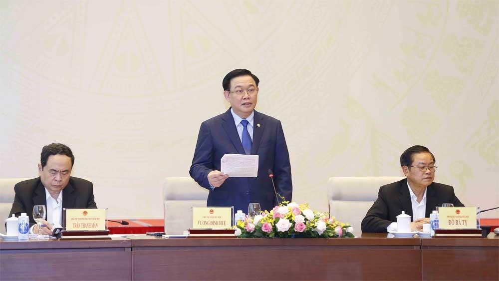 Chủ tịch Quốc hội Vương Đình Huệ: Cơ sở để hiện thực hóa mục tiêu tiếp tục nâng cao hiệu quả hoạt động của Quốc hội