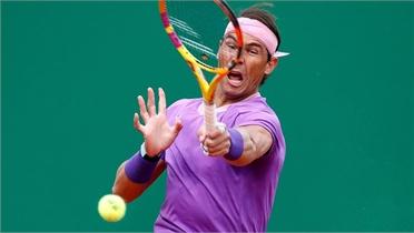 Nadal mất 55 phút để vào tứ kết Monte Carlo