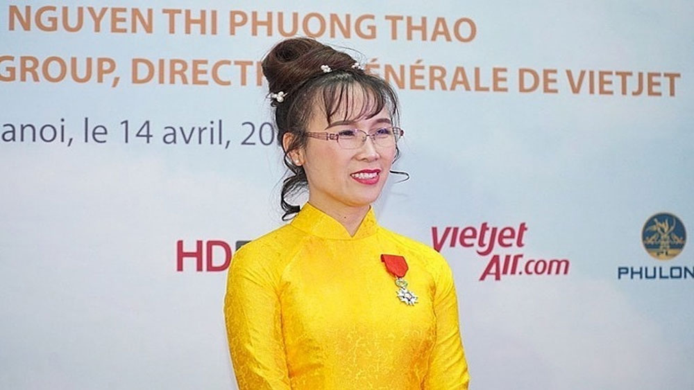 First Vietnamese businesswoman, Nguyen Thi Phuong Thao, prestigious French honor, Vietjet Air CEO, Legion of Honor, highest French order of merit