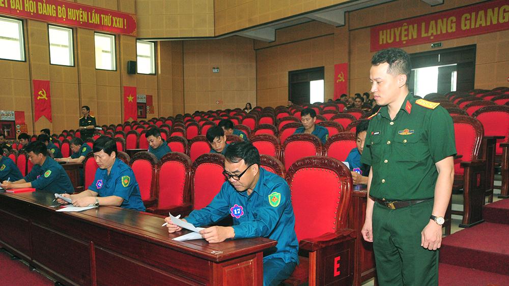 Lạng Giang: Nâng cao nhận thức pháp luật về dân quân tự vệ trong lực lượng vũ trang