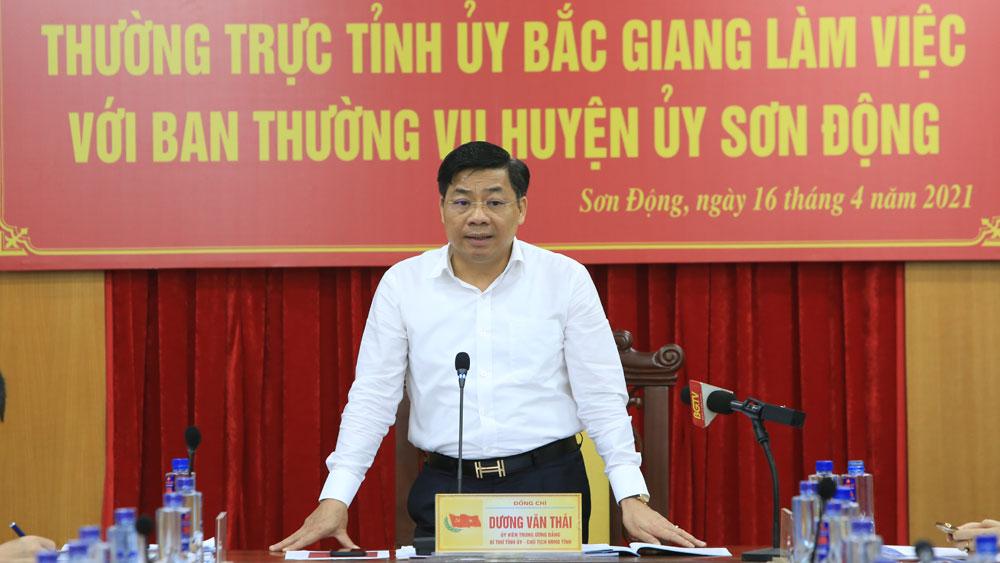 Bí thư Tỉnh ủy Dương Văn Thái: Khai thác lợi thế rừng, đưa Sơn Động trở thành trọng điểm phát triển du lịch