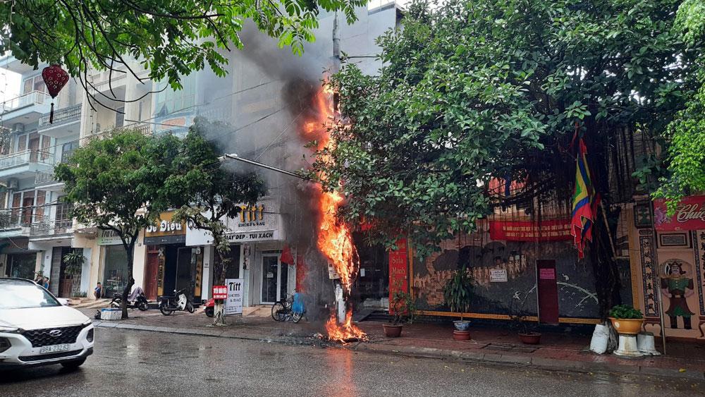 TP Bắc Giang: Chập điện gây cháy lớn