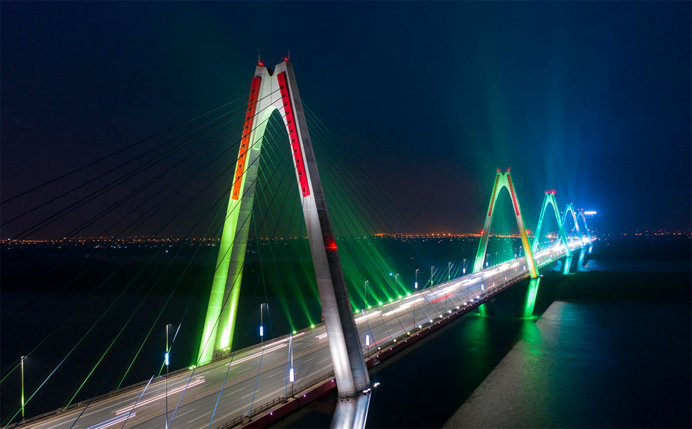 Hanoi, nocturnal serenity, tourist attractions, high-rises, calm serenity, capital of Vietnam