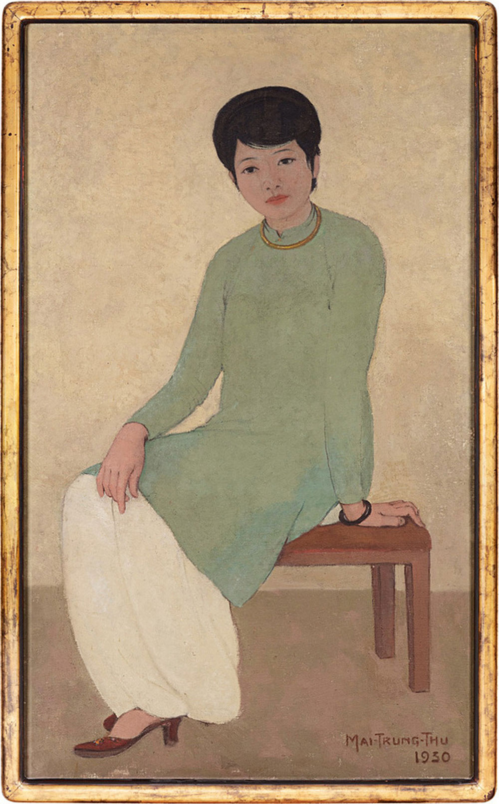 Portrait of Mademoiselle Phuong, Mai Trung Thu, highest ever price, Vietnamese painting, masterpiece