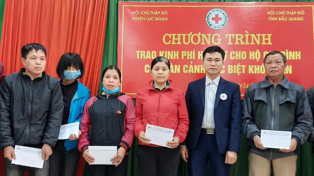 Bắc Giang, tặng quà, người nghèo, Hội Chữ thập đỏ