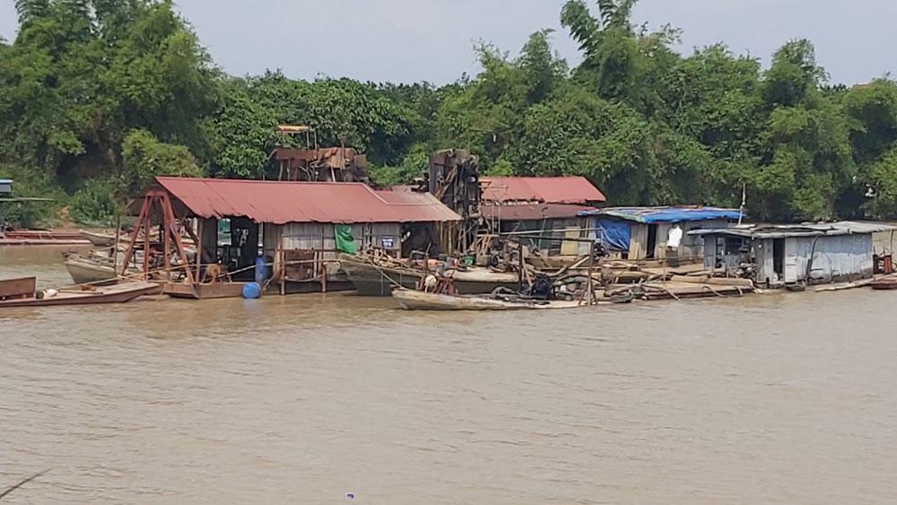 sạt lở; sông Lục Nam; Bắc Giang; khoáng sản