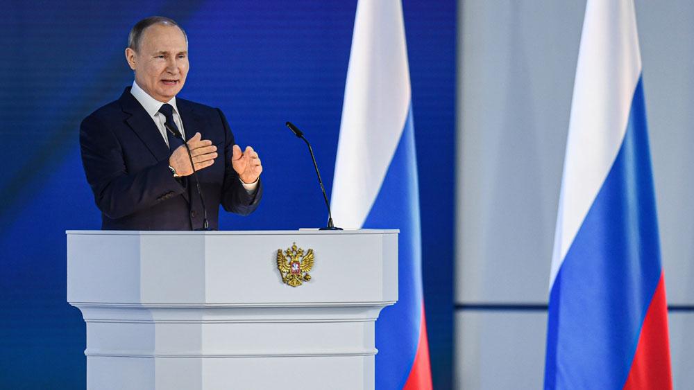 Thông điệp Liên bang của Tổng thống Nga; Tổng thống Nga Vladimir Putin đọc thông điệp Liên bang, Covid-19, nước Nga