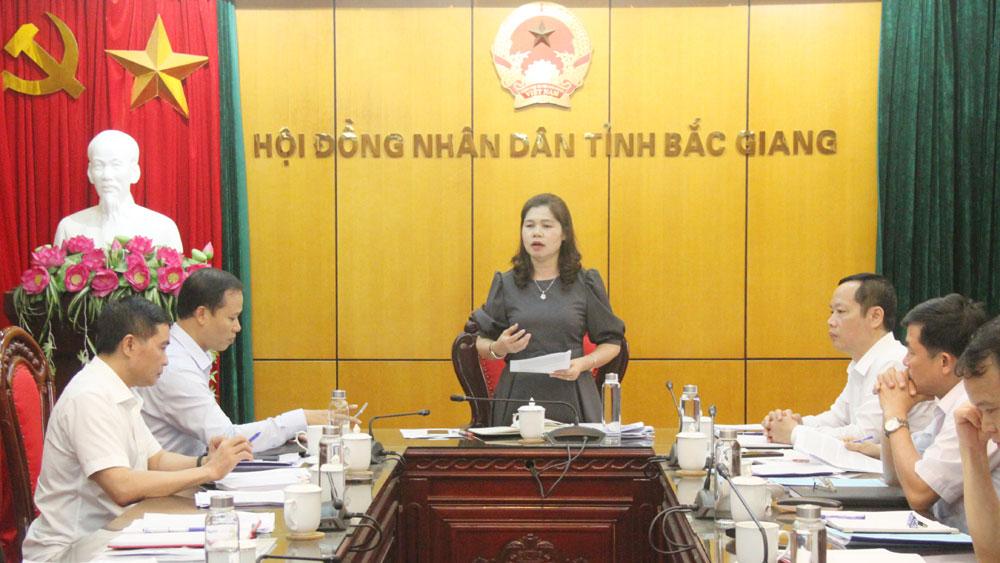 HĐND tỉnh, Bắc Giang, thẩm định, nội dung, Ban Thường vụ Tỉnh ủy.