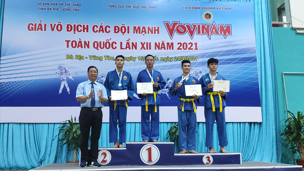 Bac Giang province, 3 medals, National Vovinam Championships, Bac Giang team,  strong practising movement, combat content, performance event
