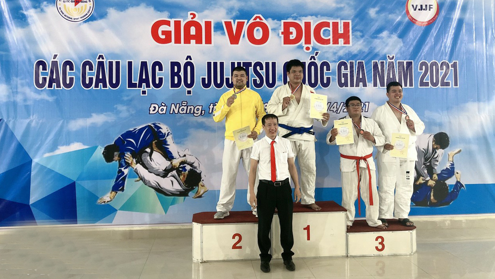 Bac Giang province, 5 medals, National Jujitsu Championship, Bac Giang athletes, high competition determination, gold winner