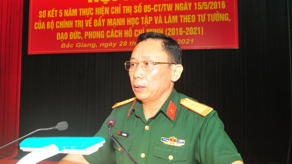 Đảng ủy Quân sự tỉnh Bắc Giang, sơ kết 5 năm, đẩy mạnh học tập và làm theo tư tưởng, đạo đức, phong cách Hồ Chí Minh