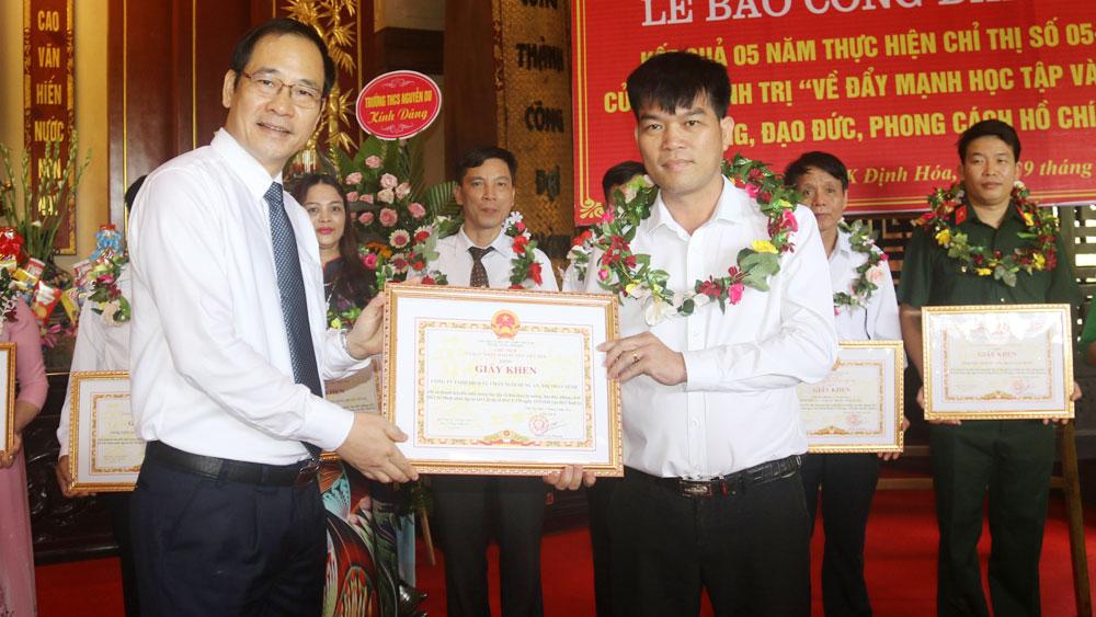 Bắc Giang, Việt Yên, báo công, dâng bác, Chỉ thị 05.