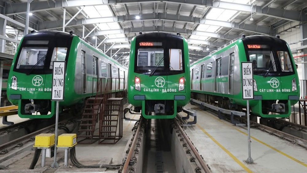 Hanoi metro, safety clearance, French consultant,  commercial operations,  Cat Linh – Ha Dong Metro Section, trip frequency