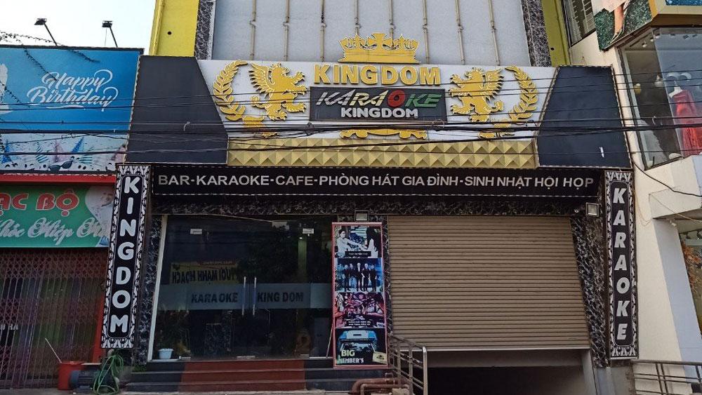 Từ 12 giờ ngày 3/5, các cơ sở kinh doanh dịch vụ karaoke tạm dừng hoạt động để phòng, chống dịch. Ảnh tư liệu.