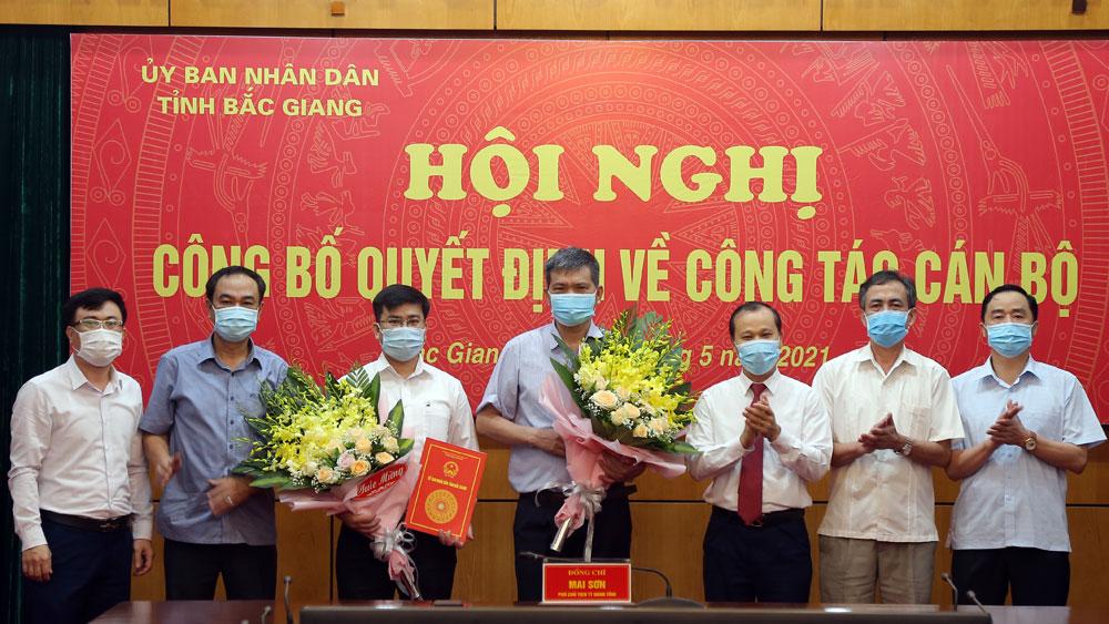 Bắc Giang, công bố quyết định, công tác cán bộ
