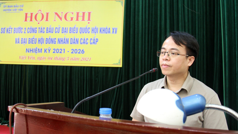 Huyện Việt Yên sơ kết bước hai công tác bầu cử
