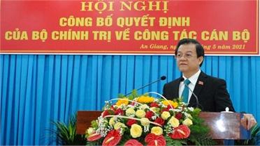 Phó Chánh án TAND Tối cao làm Bí thư Tỉnh ủy An Giang