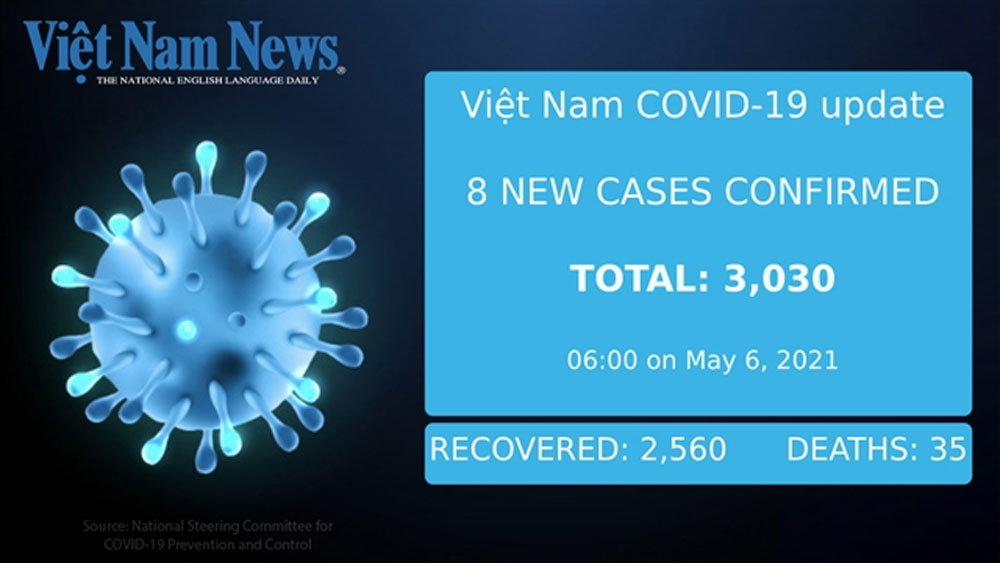 Eight new cases, all domestic, Thursday morning, National Hospital for Tropical Diseases,  tested positive