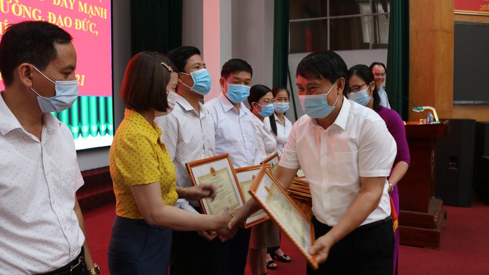 Lục Nam, Học tập và làm theo Bác, thực hiện, nhiệm vụ chính trị, đơn vị, địa phương, Hồ Chí Minh, Chỉ thị 05