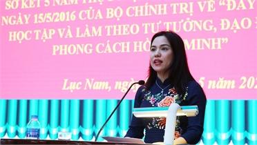 Lục Nam: Học tập và làm theo Bác gắn với thực hiện nhiệm vụ chính trị của đơn vị, địa phương