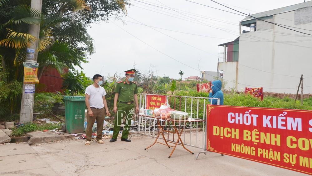Bắc Giang, khẩn trương, thiết lập, vùng cách, ly y tế, giãn cách, xã hội,xã Phương Sơn , huyện Lục Nam