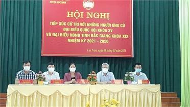 Ứng cử viên đại biểu Quốc hội và HĐND tỉnh tiếp xúc cử tri huyện Lục Nam