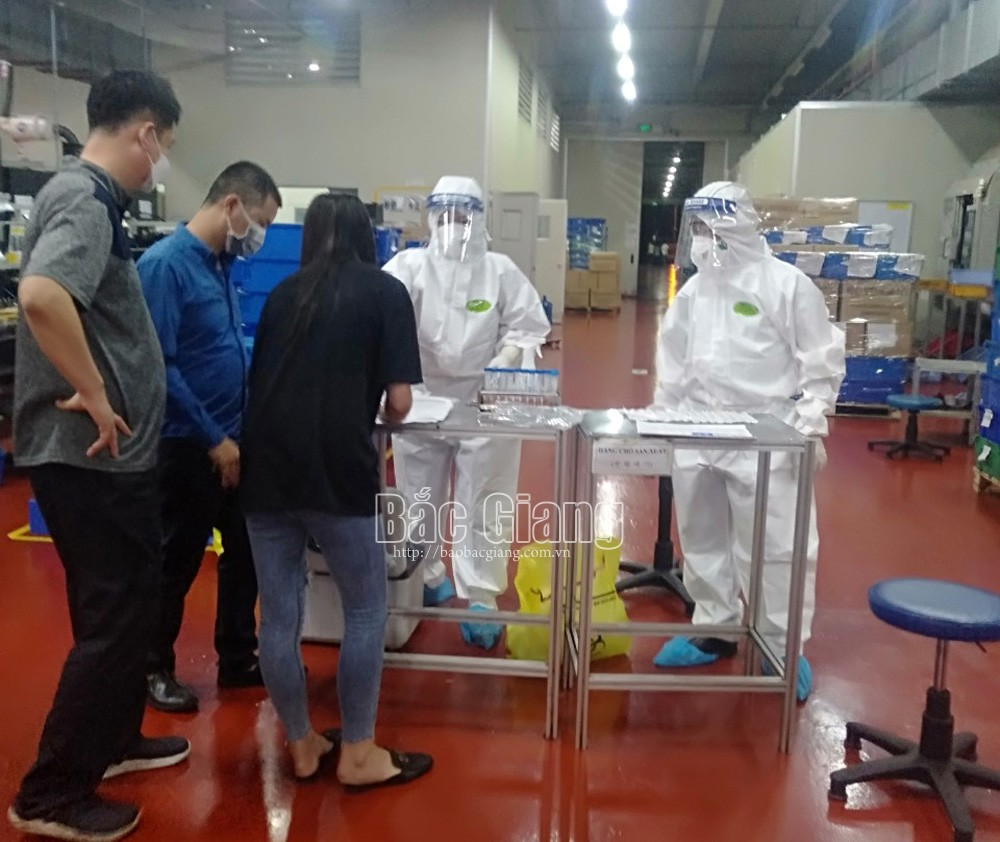 bệnh nhân, Covid-19, công nhân, khu công nghiệp Quang Châu, Bắc Giang