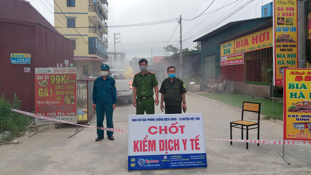 Covid-19 tại Bắc Giang, ca bệnh covid-19, thị trấn Nếnh, Lập chốt phòng dịch tại thị trấn Nếnh, tổ dân phố My Điền 2