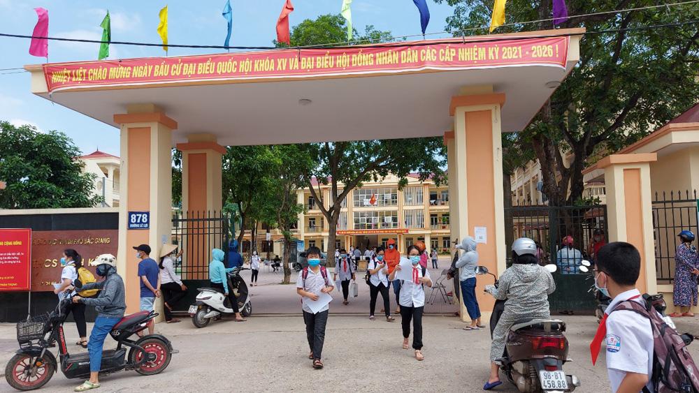 Bắc Giang, giáo dục, nghỉ học, chống dịch, tạm nghỉ học, THCS Dĩnh Kế