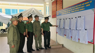 Bảo vệ tuyệt đối an ninh, an toàn Ngày bầu cử trong mọi tình huống