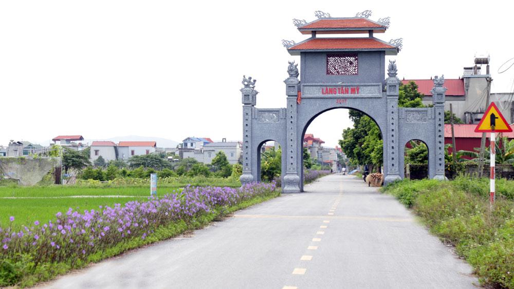 Nông thôn mới, thôn kiểu mẫu, Bắc Giang, Yên Dung, đường nông thôn