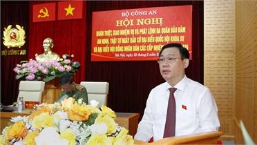 Chủ tịch Quốc hội dự hội nghị bảo đảm an ninh, trật tự ngày bầu cử