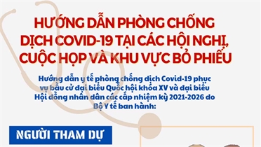 Hướng dẫn phòng, chống dịch Covid-19 tại khu vực bỏ phiếu bầu cử